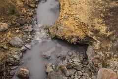 Área geotérmica de Seltun fotos de stock