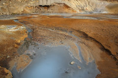Área geotérmica de Seltun Fotografía de archivo