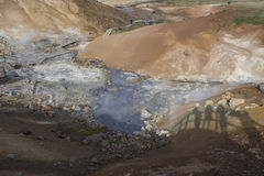 Área geotérmica de Seltun en Reykjanes Foto de archivo