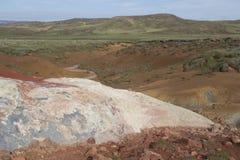 Área geotérmica de Seltun en Reykjanes Fotografía de archivo libre de regalías