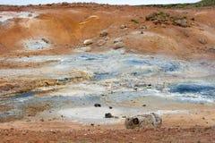 Área geotérmica de Seltun na península de Reykjanes de Icelan do sul Fotos de Stock Royalty Free