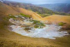 Área geotérmica Landmannalaugar foto de stock