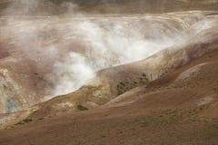Área geotérmica na região vulcânica Islândia de Krafla imagens de stock royalty free