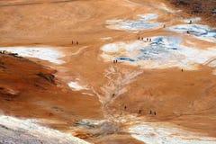 Área Geothermal imagem de stock