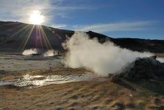 Área Geothermal fotografia de stock royalty free