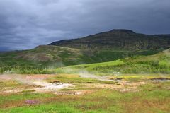 Área Geothermal Haukadalur Imagem de Stock
