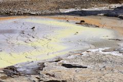Área Geothermal Hveravellir Foto de Stock Royalty Free