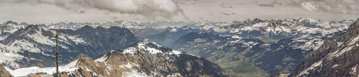 Área Glacier De Diablerets del esquí Imagen de archivo