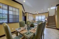 Área habitável e escadas da casa de Florida da sala de jantar Fotografia de Stock Royalty Free