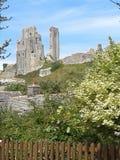Área hermosa del castillo de Corfe Imagenes de archivo
