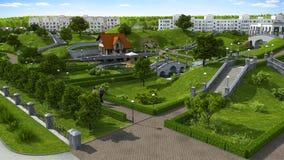 Área hermosa del parque. Imagen de archivo libre de regalías