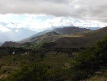 Área Himalayan alrededor de Muktinath Foto de archivo