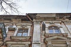 Área histórica de la ciudad vieja Odessa, Ucrania Imagenes de archivo