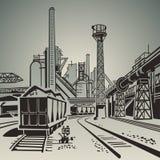Área industrial ilustración del vector