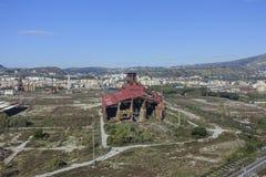 Área industrial abandonada perto de Nápoles Fotografia de Stock