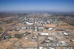 Área industrial con intercambio Foto de archivo