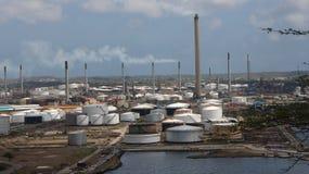 Área industrial de Curaçao Fotos de archivo libres de regalías