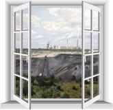Área industrial de la mina del lignito Fotografía de archivo libre de regalías