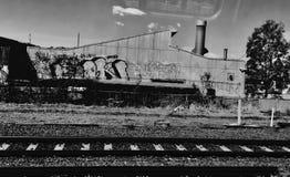 Área industrial en Brisbane foto de archivo