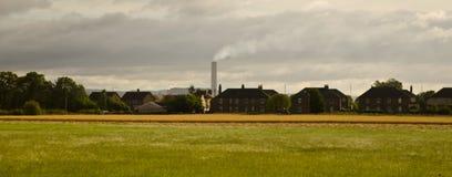 Área industrial en las montañas de Escocia imágenes de archivo libres de regalías
