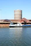 Área industrial holandesa e fábrica de aço imagens de stock