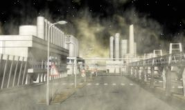 Área industrial surreal Fotografia de Stock