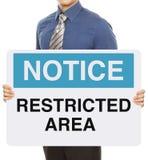 Área interditado Imagens de Stock Royalty Free