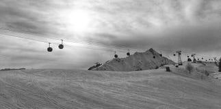 Área Les Contamines, Francia del esquí foto de archivo