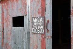 Área más allá de esta muestra cerrada Fotografía de archivo