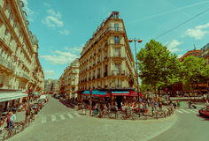 Área mais quartier latino em Paris, França Imagem de Stock Royalty Free