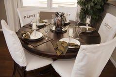 Área moderna da sala de jantar Foto de Stock