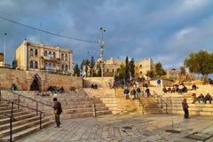 Área na porta dianteira de Damasco do Jerusalém Fotografia de Stock