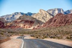 Área nacional da conservação da garganta vermelha da rocha Fotografia de Stock