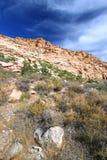 Área nacional de la protección del barranco rojo de la roca Imagen de archivo libre de regalías