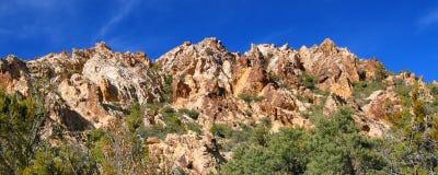 Área nacional de la protección del barranco rojo de la roca Imagen de archivo