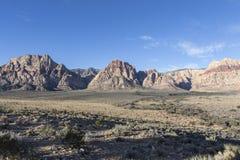 Área nacional Nevada de la protección del barranco rojo de la roca Foto de archivo