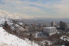 Área norteña de la ciudad de Tehran Foto de archivo libre de regalías