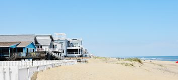 Área oriental do oceanfront de Virginia Beach da costa fotos de stock royalty free