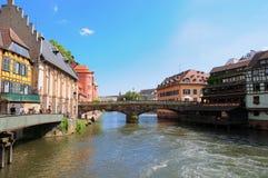 Área pequena de Francia en Estrasburgo fotos de archivo