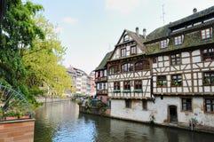 Área pequena de Francia en Estrasburgo fotografía de archivo libre de regalías