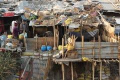 Área pobre de Katmandu fotografía de archivo