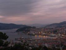Área portuária de Vigo, região de Galiza, Spain Fotografia de Stock