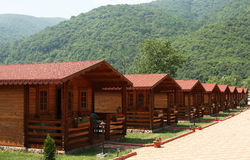 Área que acampa de la montaña fotografía de archivo