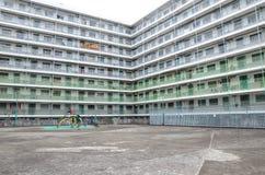 Área recreacional de Nam Shan Public Housing Estate em Hong Kong Foto de Stock