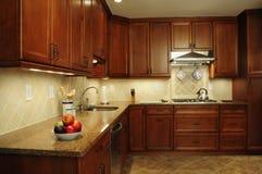 Área remodelada de la preparación de la cocina Fotos de archivo