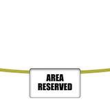 Área reservada ilustração stock