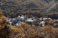 Área residencial da elite de Hilly Wellington em Thorndon, Nova Zelândia Foto de Stock Royalty Free