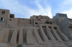 Área residencial da plataforma alta na cidade velha de Kashgar Foto de Stock Royalty Free