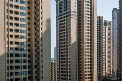 Área residencial da ponte norte de Chongqing Chaotianmen Yangtze River Bridge Fotos de Stock Royalty Free