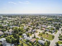Área residencial da pradaria grandioso, Alberta, Canadá foto de stock royalty free